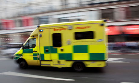 Ambulance passing at high speed