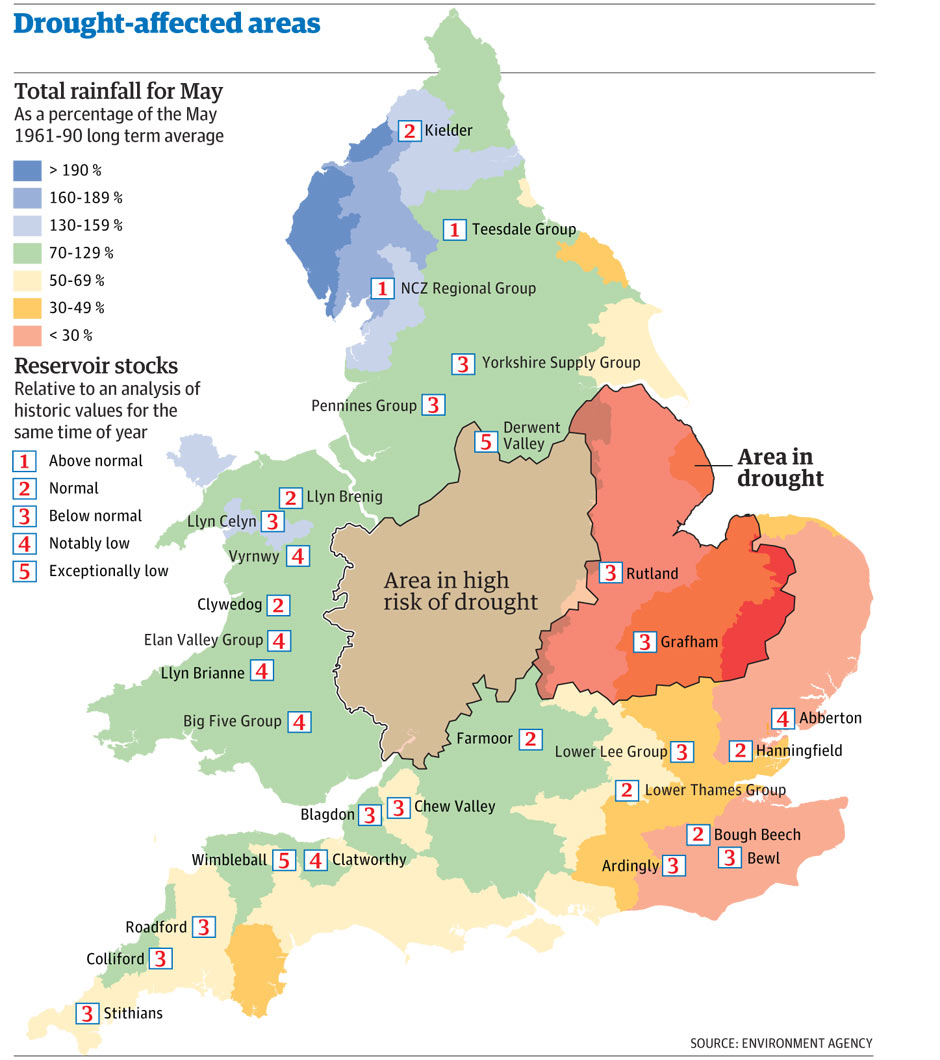 Map Of England East Anglia.100 Years Of Uk Rainfall When Was It This Dry Before Environment