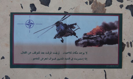 Leaflet dropped by Nato in Libya, 14 June 2011.