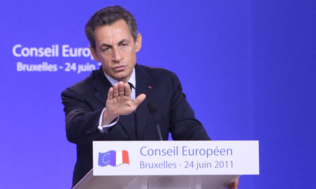 Nicolas Sarkozy in Brussels on 24 June 2011.