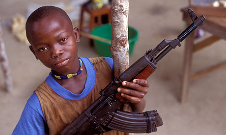Human trafficking: a child soldier in Sierra Leone