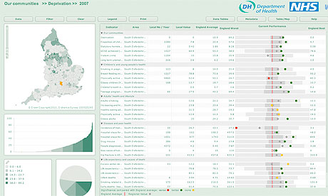 Department of Health interactive map