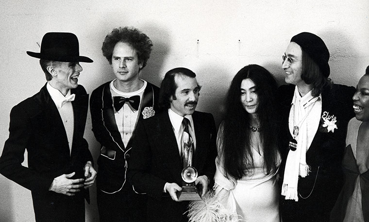David Bowie Art Garfunkel Paul Simon Yoko Ono And John Lennon Woody Allen Michael Jackson