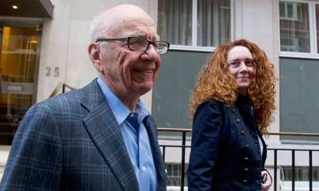 Rupert Murdoch and Rebekah Brooks in London on 10 July 2011.
