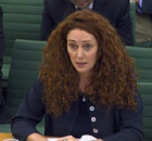Rebekah Brooks giving evidence to the Home Affairs Select Committee