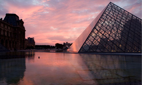 The Louvre museum at twilight