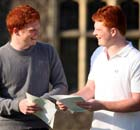 18 Year Old Twins Stuart And Matthew Waugh open their A-level Results