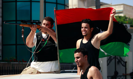 Libyan rebels celebrate in Tripoli