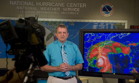 National Hurricane Center Director Bill Read provides a live update on Hurricane Irene
