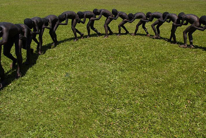 celebrate gallery: Black Snake Dance, Papua New Guinea