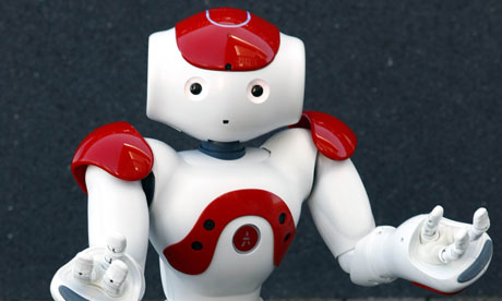 red and white robot