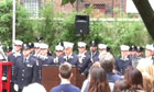 Joe Nardone gives a speech at the memorial
