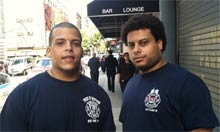 Matthew and Philip, sons of Carl Asaro, one of the first firefighters at the WTC