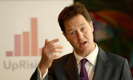 Nick Clegg at the UpRising project in Birmingham