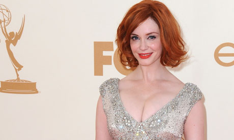 Christina Hendricks at the Emmy awards in Los Angeles