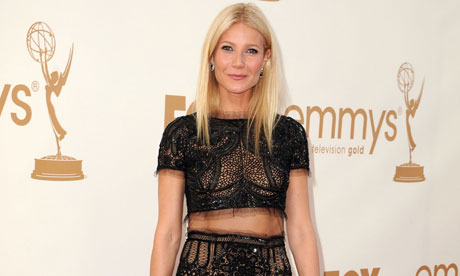 Gwyneth Paltrow at the Emmy awards in Los Angeles.