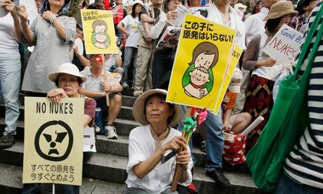 Fukushima protest in Japan