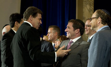 Rick Perry meets Jewish leaders