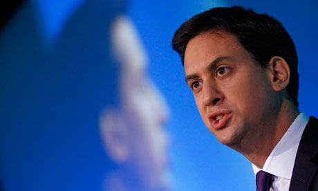 Ed Miliband delivers his speech to delegates at the annual Trades Union Congress, in central London