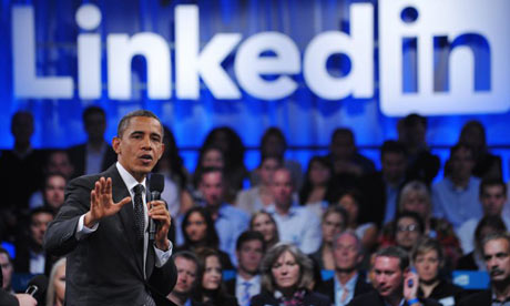 Barack Obama at LinkedIn town hall