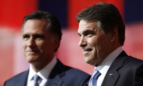Mitt Romney and Rick Perry