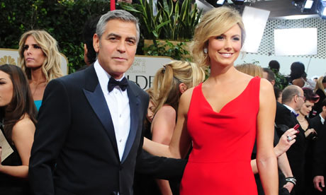 George Clooney and Sacy Keibler