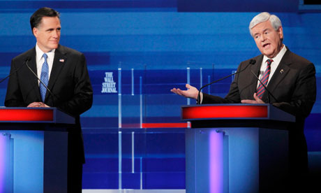 Romney and Gingrich South Carolina debate