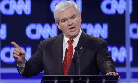 Newt Gingrich condemned 'despicable' questions about a marital affair