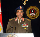 Egyptian field marshal Mohamed Hussein Tantawi