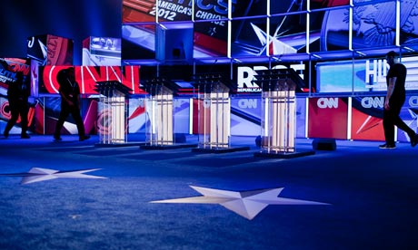 CNN debate set-up