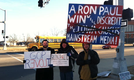 Ron Paul supporters in Iowa
