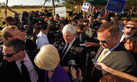 Gingrich Campaigns On Florida Primary Day