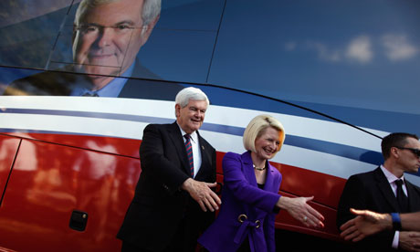 Newt Gingrich campaigns On Florida's primary day