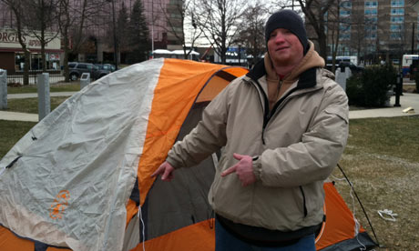 Occupy New Hampshire protester John Carney