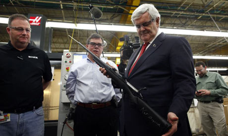 Newt Gingrich with gun