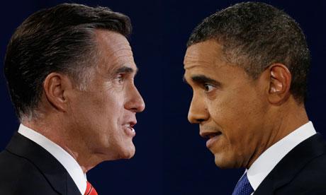 Mitt Romney faces off with Barack Obama