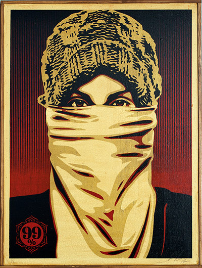 Shepard Fairey images: The Protester