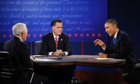 Mitt Romney Obama and Schieffer