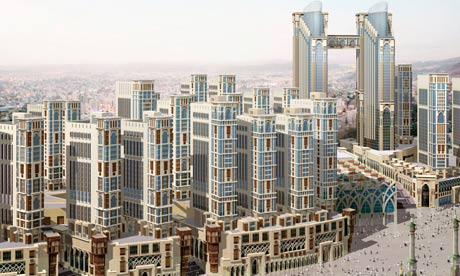Toast rack in the sky ... a CGI construction of what the Jabal Omar project will look like