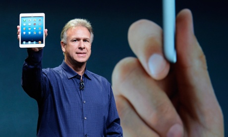 Apple senior vice president of worldwide product marketing Phil Schiller announces the new iPad Mini in San Jose.