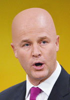 Bald Nick Clegg