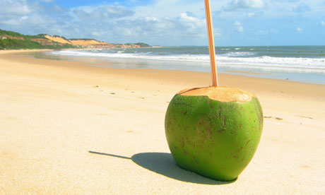 A green coconut