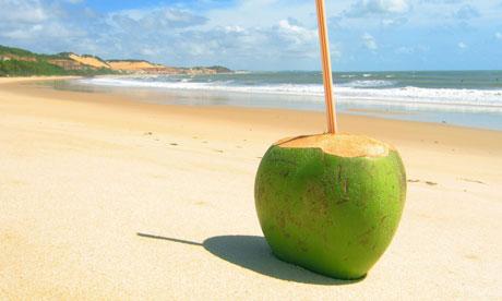 A green coconut