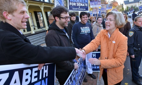 Elizabeth Warren in Cambridge.