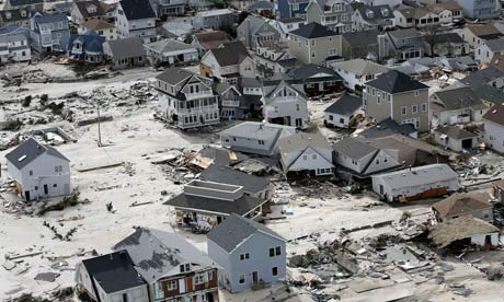 Homes left in the wake of superstorm Sandy in Seaside Heights, New Jersey
