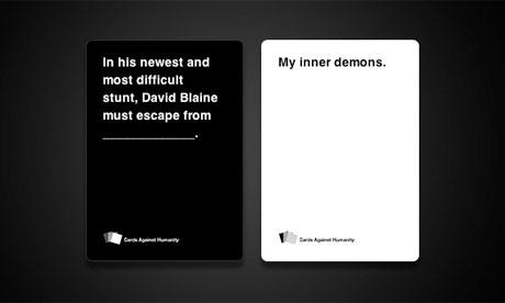David Blaine Card Travels Through Air