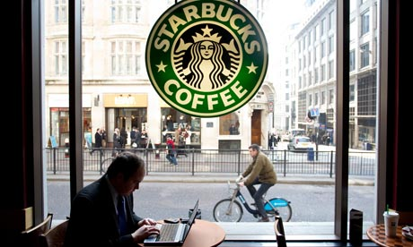 Starbucks coffee shop in Monument, London