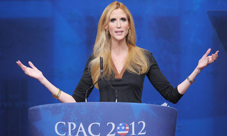 Ann Coulter speaks at CPAC in Washington,DC.