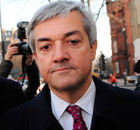 Huhne arriving at Westminster Magistrates