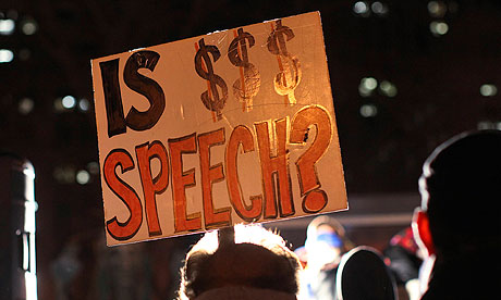 Is $$$ speech occupy protests sign
